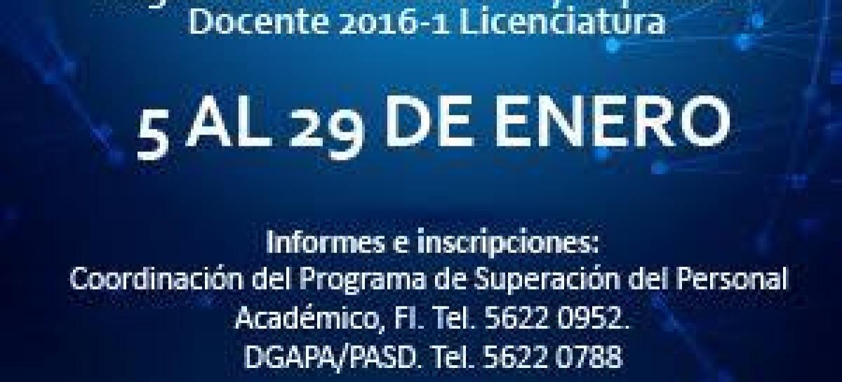 Programa de Actualización y Superación Docente 2016 – 1