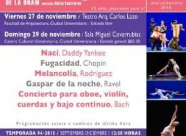 TCUNAM bailará del merengue a la trova y de Bach a Ravel