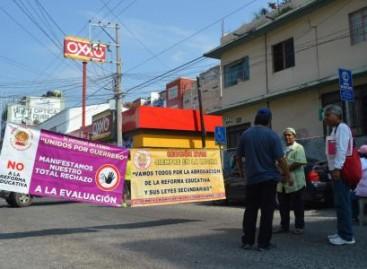CETEG alista protestas contra evaluación que se aplicará este jueves