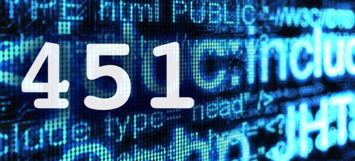 451, el nuevo error de Internet