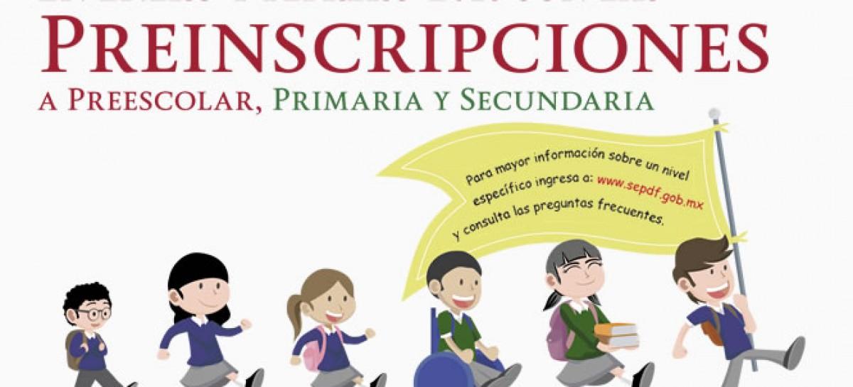 SEP Preinscripciones 2016 – Preescolar, Primaria y