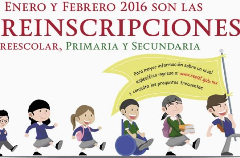SEP Preinscripciones 2016 – Preescolar, Primaria y Secundaria