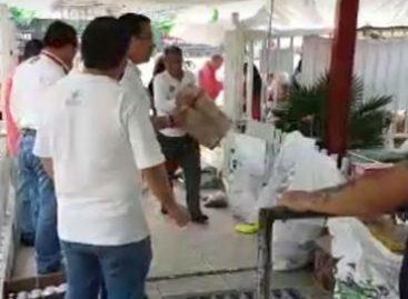 Reciben víveres en centros de acopio para afectados por temblor