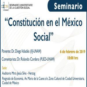 Constitución en el México Social @ Auditorio Jesús Silva - Herzog, Posgrado de Economía   Ciudad de México   Ciudad de México   México
