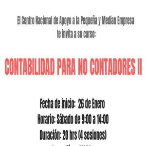 Contabilidad para no contadores II @ Centro Nacional de Apoyo a la Pequeña y Median Empresa | Coyoacán | Ciudad de México | México