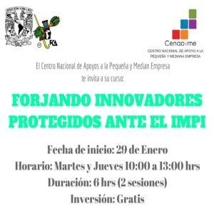 Forjando innovadores protegidos ante el IMPI @ entro Nacional de Apoyos a la Pequeña y Mediana Empresa | Coyoacán | Ciudad de México | México