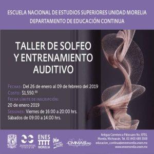 Taller de Solfeo y Entrenamiento Auditivo @ ENES Morelia | Morelia | Michoacán | México