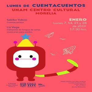 Lunes de cuenta cuentos. 28 de enero de 2019 @ Centro Cultural Morelia UNAM | Morelia | Michoacán | México