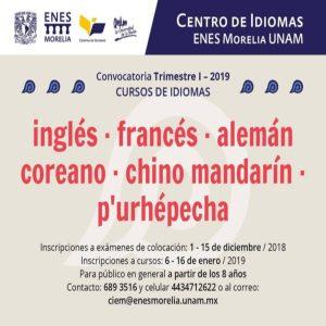 Cursos de idiomas @ Escuela Nacional de Estudios Superiores Morelia | Morelia | Michoacán | México