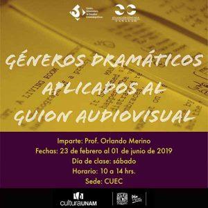 Géneros dramáticos aplicados al guión audiovisual @ Centro Universitario de Estudios Cinematográficos   | Ciudad de México | Ciudad de México | México
