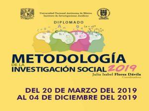 Metodología de la Investigación Social 2019 @ Aula de seminarios Dr. Guillermo Floris Margadant, IIJ | Coyoacan | Ciudad de México | México