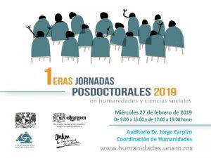 Primeras jornadas posdoctorales en humanidades y ciencias sociales @ Auditorio Dr. Jorge Carpizo, CH | Ciudad de México | Ciudad de México | México