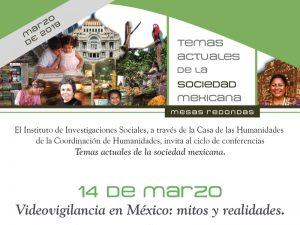 Videovigilancia en México: mitos y realidades @ Casa de las Humanidades | Ciudad de México | Ciudad de México | México