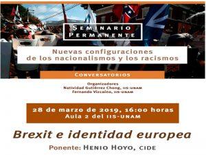 Brexit e Identidad Europea @ Aula 2 del Instituto de Investigaciones Sociales de la UNAM   Coyoacan   Ciudad de México   México