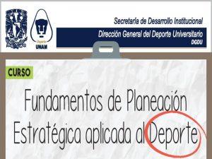 Fundamentos de Planeación Estratégica aplicada al Deporte @ Centro de Educación Continua de Estudios Superiores del Deporte   | Ciudad de México | Ciudad de México | México