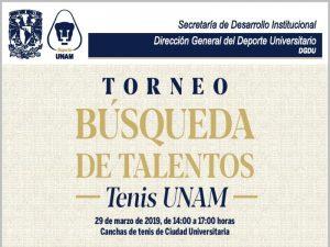 Entérate de la búsqueda de talentos: Tenis UNAM @ Dirección General del Deporte Universitario | Coyoacan | Ciudad de México | México