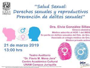 Salud Sexual: Derechos sexuales y reproductivos Prevención de delitos sexuales @ Teatro Auditorio Dr. Flavio M. Mena Jara | Juriquilla | Querétaro | México