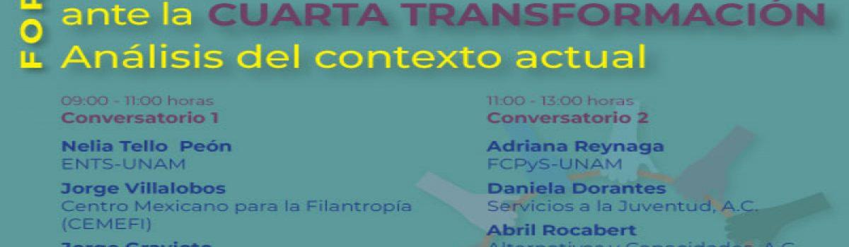 Las Organizaciones de la Sociedad Civil ante la Cuarta  Transformación. Análisis del contexto actual
