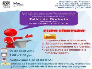 Taller de Oratoria @ Audiovisual 1 en el CFATA | Juriquilla | Querétaro | México