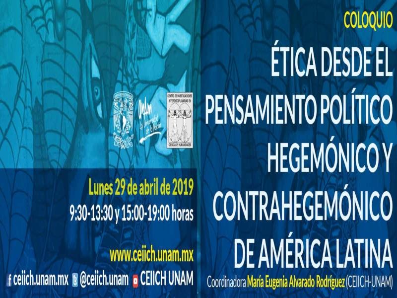 Ética desde el pensamiento político hegemónico y contrahegemónico de América Latina