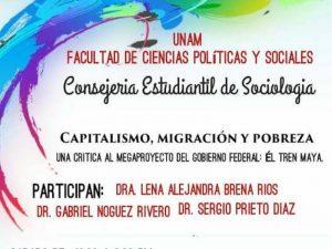 Capitalismo, migración y pobreza. @ Sala Lucio Mendieta, Edificio F. Facultad de Ciencias Políticas y Sociales | Ciudad de México | Ciudad de México | México
