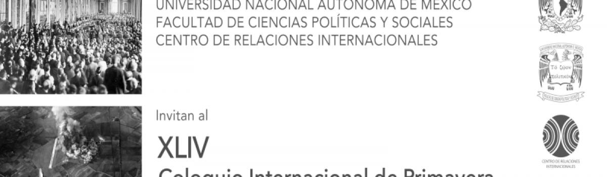 XLIV Coloquio Internacional de Primavera. Graciela Arroyo Pichardo