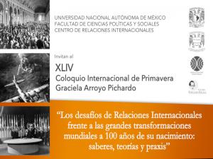 XLIV Coloquio Internacional de Primavera. Graciela Arroyo Pichardo @ Auditorio Ricardo Flores Magón, FCPyS | Ciudad de México | Ciudad de México | México