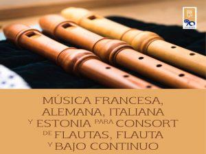 Música francesa, alemana, italiana y estonia para consort de flautas, flauta y bajo continuo @ Sala Xochipilli | Ciudad de México | Ciudad de México | México