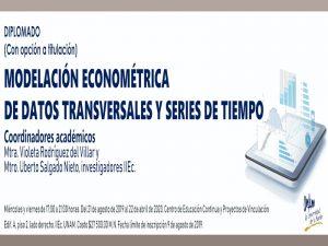 Modelación Econométrica de Datos Transversales y Series de Tiempo @ Laboratorio de cómputo 2, Instituto de Investigaciones Económicas | Ciudad de México | Ciudad de México | México