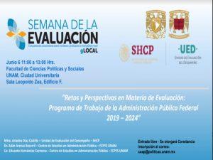 Retos y Perspectivas en Materia de Evaluación: Programa de Trabajo de la Administración Pública Federal 2019 – 2024 @ Sala Leopoldo Zea, Edificio F | Ciudad de México | Ciudad de México | México