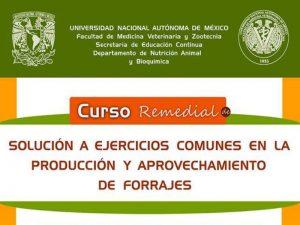 Solución a ejercicios comunes en la producción y aprovechamiento de forrajes @ Salón 2106 de la Facultad de Medicina Veterinaria y Zootecnia | Ciudad de México | México