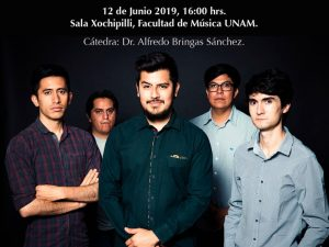Concierto de Percusión Contemporánea @ Sala Xochipilli, Facultad de Música | Ciudad de México | Ciudad de México | México