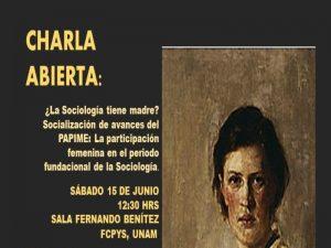 ¿La sociología tienen madre? @ Sala Fernando Benítez | Ciudad de México | Ciudad de México | México