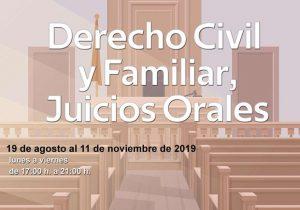 Derecho Civil y Familiar, Juicios Orales @ Aulas de la Facultad de Derecho   Ciudad de México   Ciudad de México   México