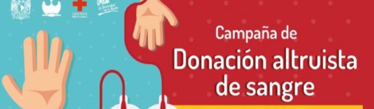Campaña de Donación Altruista de Sangre 2019