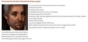 Presentación del libro Dinastía de tinta y papel @ Centro de Convenciones y Congresos de la UNAM | Ciudad de México | Ciudad de México | México
