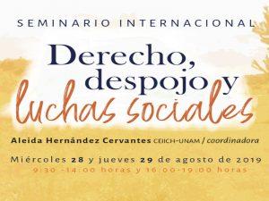 Derecho, despojo y luchas sociales @ Auditorio Rolando García | Ciudad de México | Ciudad de México | México