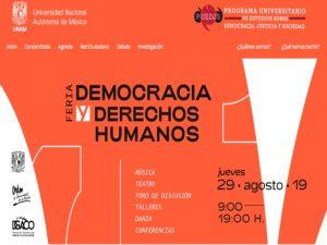 Feria Democracia y Derechos Humanos @ Las Islas, CU | Ciudad de México | Ciudad de México | México