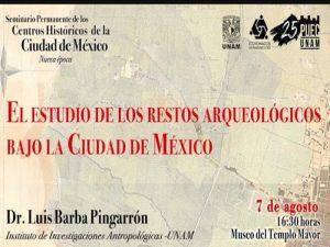 El estudio de los restos arqueológicos bajo la Ciudad de México @ Auditorio Eduardo Matos Moctezuma-Museo del Templo Mayor | Ciudad de México | Ciudad de México | México