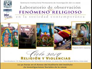 Postulados morales y religiosos del crimen organizado en Michoacán @ Anexo del Auditorio del Instituto de Investigaciones Sociales | Ciudad de México | México