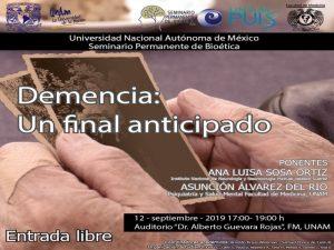 Demencia: un final anticipado @ Auditorio Dr. Alberto Guevara Rojas | Ciudad de México | Ciudad de México | México