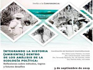 Integrando la historia (ambiental) dentro de los análisis de la ecología política: Reflexiones sobre métodos, logros y futuros desafíos @ Anexo del Auditorio del Instituto de Investigaciones Sociales de la UNAM. | Ciudad de México | México