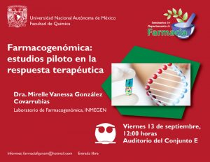 Farmacogenómica: estudios piloto en la respuesta terapéutica @ Auditorio del Conjunto E | Ciudad de México | Ciudad de México | México