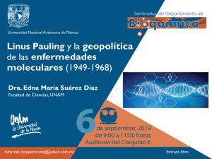 Linus Pauling y la geopolítica de las enfermedades moleculares (1949-1968) @ Auditorio del Conjunto E   Ciudad de México   Ciudad de México   México