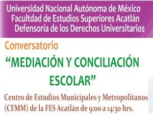 Mediación y conciliación escolar @ Defensoría de los Derechos Universitarios | Ciudad de México | Ciudad de México | México