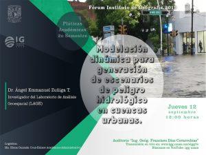 Modelación dinámica para generación de escenarios de peligro hidrológico en cuencas urbanas @ Auditorio Ing. Geóg. Francisco Díaz Covarrubias | Ciudad de México | Ciudad de México | México