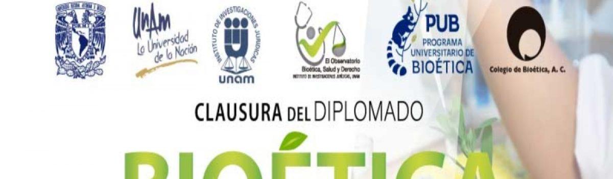 Conferencia Magistral de Clausura del Diplomado Bioética, Salud y Derecho