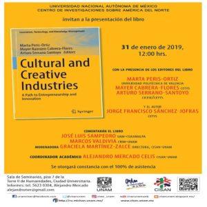 Cultural and creative industries @ Sala de Seminarios, CISAN | Ciudad de México | Ciudad de México | México