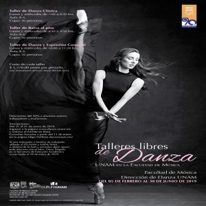 Talleres libres de Danza @ Facultad de Música | Ciudad de México | Ciudad de México | México