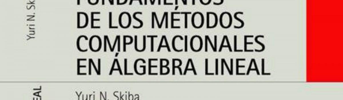 Fundamentos de los métodos computacionales en álgebra lineal.